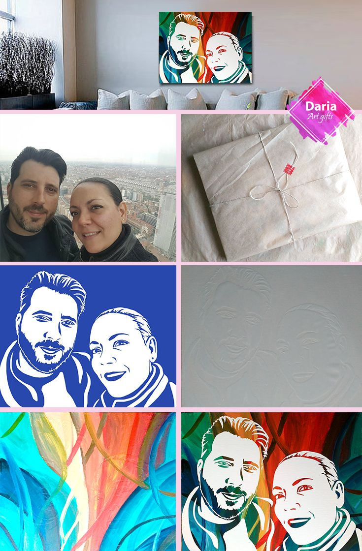 Painted by yourself custom pop art portrait from your photo custom painted by yourself custom pop art portrait from your photo custom valentines day gift solutioingenieria Choice Image