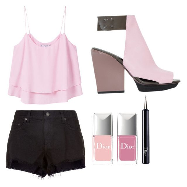 pink by andreaa16-00 on Polyvore featuring polyvore мода style MANGO rag & bone 3.1 Phillip Lim Christian Dior fashion clothing
