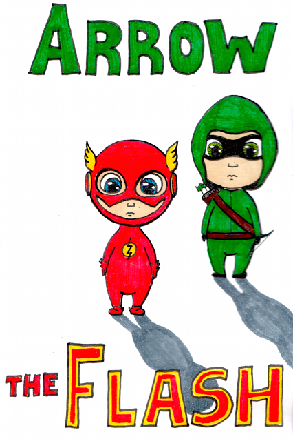 Desenho do Dia #95 - Arrow & The Flash - Soraia Casal