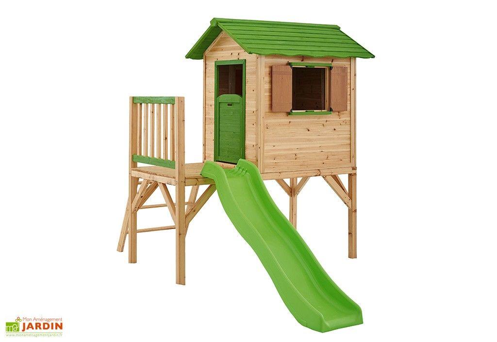 maison enfant bois mila sur pilotis. Black Bedroom Furniture Sets. Home Design Ideas