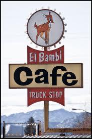 El Bambi Café Truck Stop Beaver, UT Vintage signs