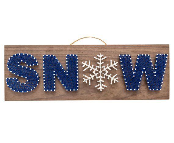 SNOW String Art Kit - DIY Kit, Adult Crafts, Teen Crafts, Winter, Holiday Gift, Christmas Gift, Crafts Kit, Gifts for Women, Arts and Crafts -   25 crafts for women ideas