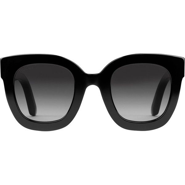04a6c25fb1d Gucci Round-Frame Acetate Sunglasses with Stars ( 400) ❤ liked on Polyvore  featuring accessories