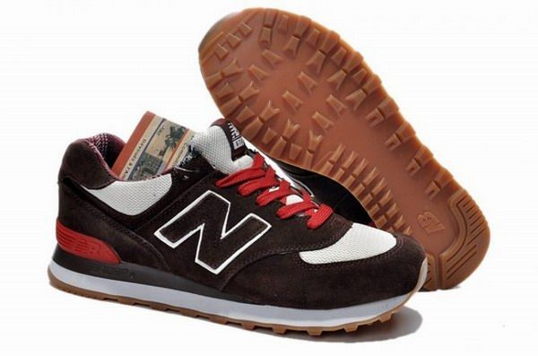 Joes New Balance M574PB Brown Grey Red Mens Shoes