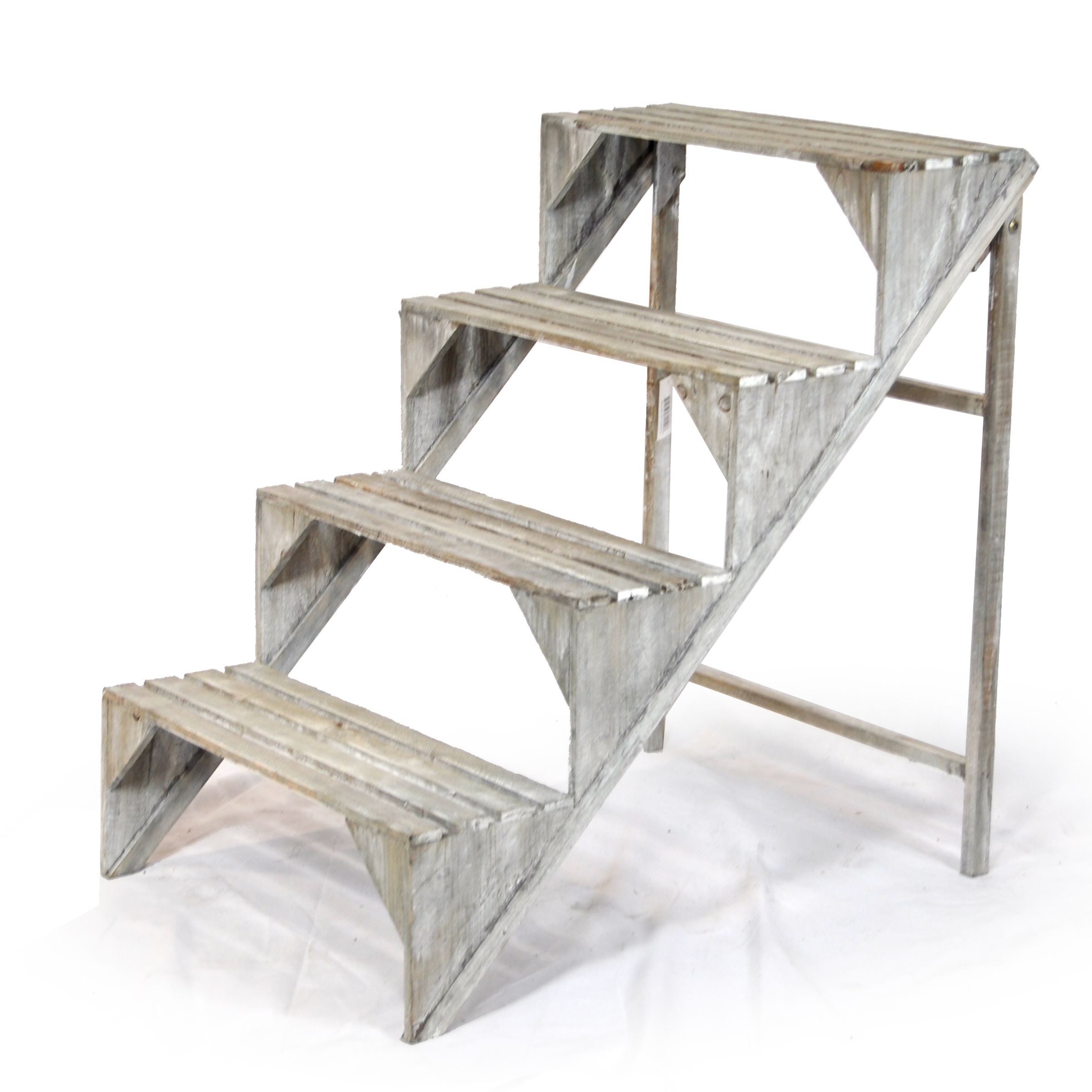 Wooden Four Step Plant Display Stand 26 Visual