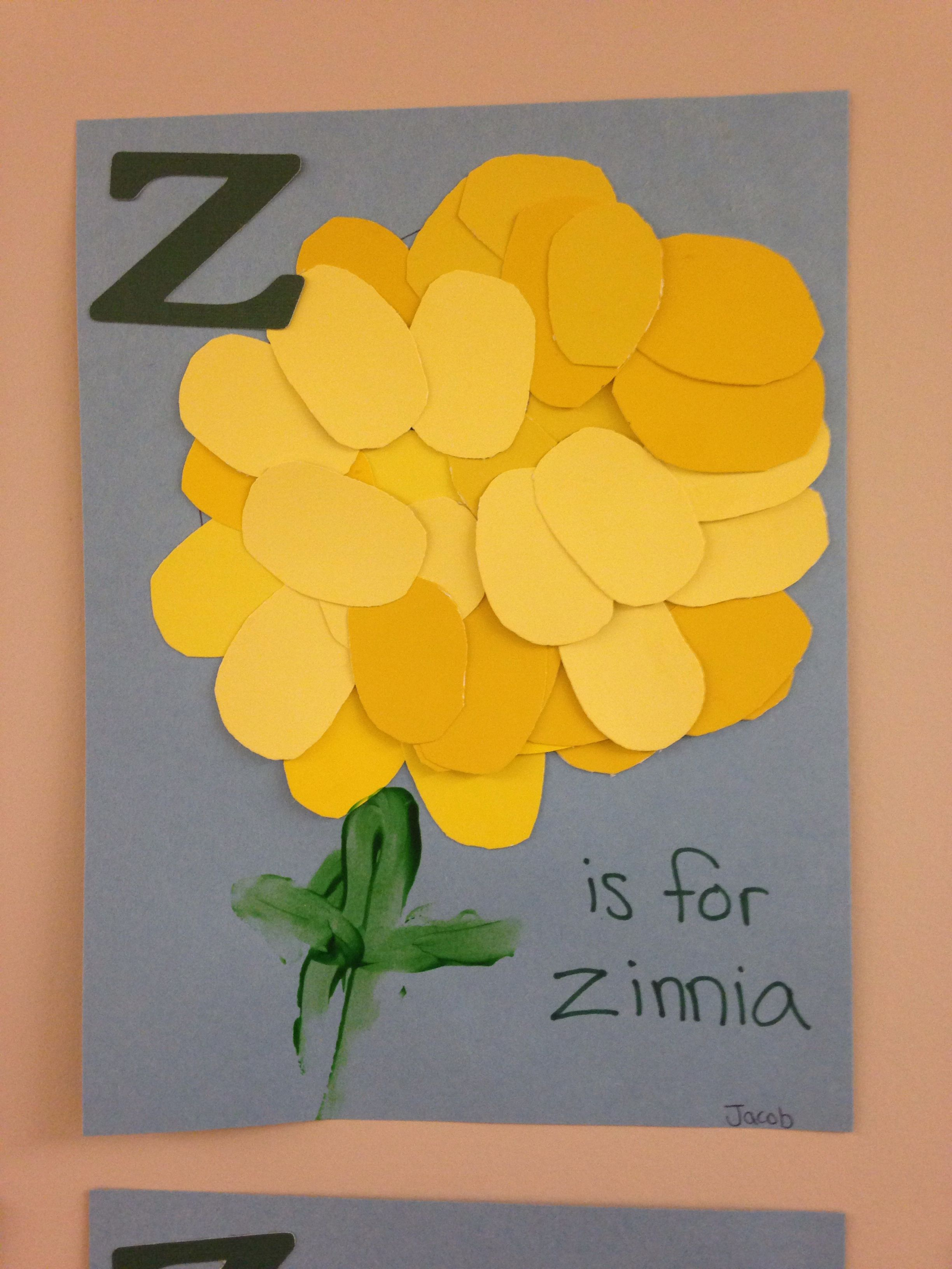 Z Is For Zinnia Preschool Oval Craft Letter Z Spring