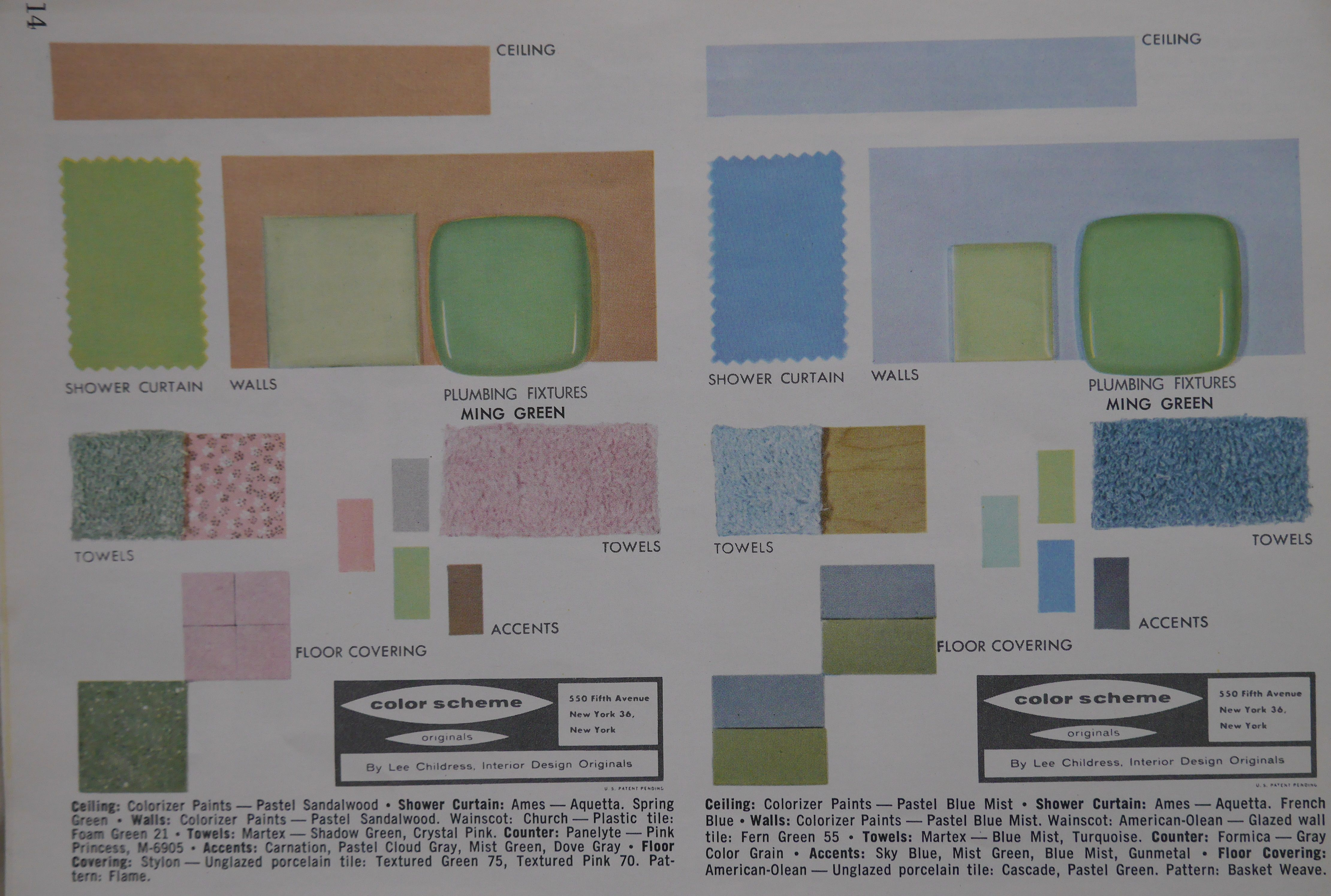 1957 Color Chart Ming Green Green Color Chart Green Towels Vintage Bathrooms