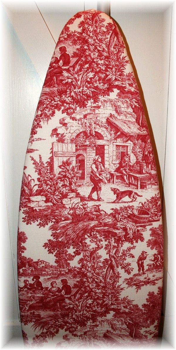 english country toile ironing board cover accessori x la. Black Bedroom Furniture Sets. Home Design Ideas