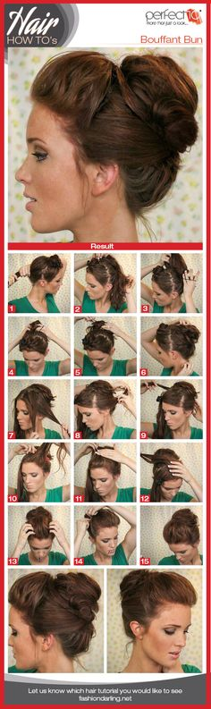 Bouffant Bun Hair Tutorial