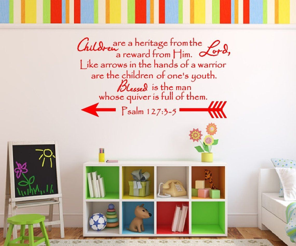 bible verse decal christian wall decal children are a on wall stickers for kids id=16945
