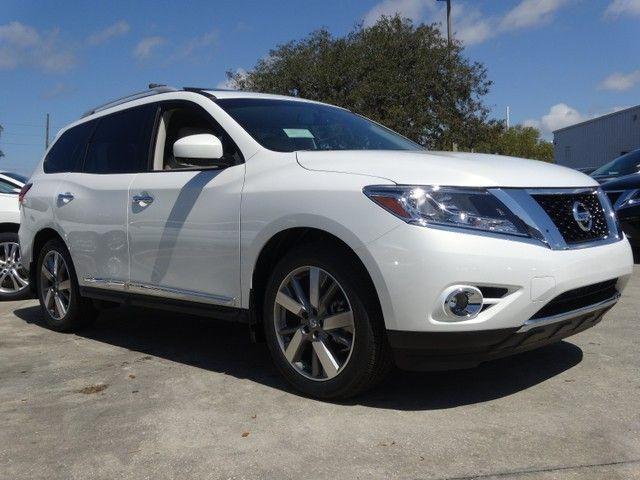 2014 Nissan Pathfinder Platinum Moonlight White Nissan