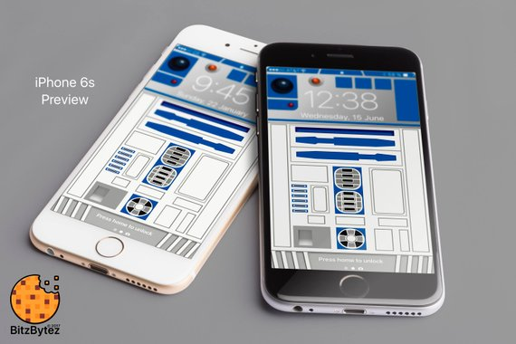 R2-D2 Starwars - iPhone 5,6,7,8 Background Wallpaper - mobile cell
