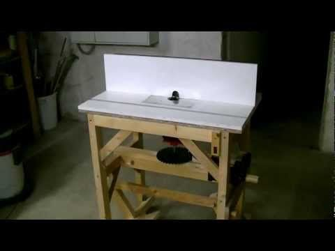 Homemade router table eigenbau frstisch lift and retractable homemade router table eigenbau frstisch lift and retractable casters youtube greentooth Image collections