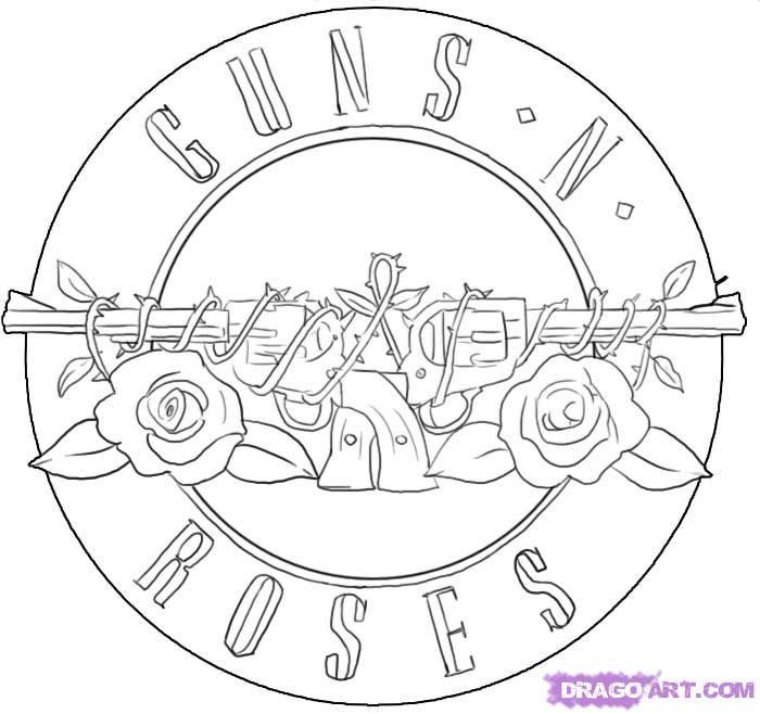 how to draw guns n roses symbol step 9  e7d7e1670c3