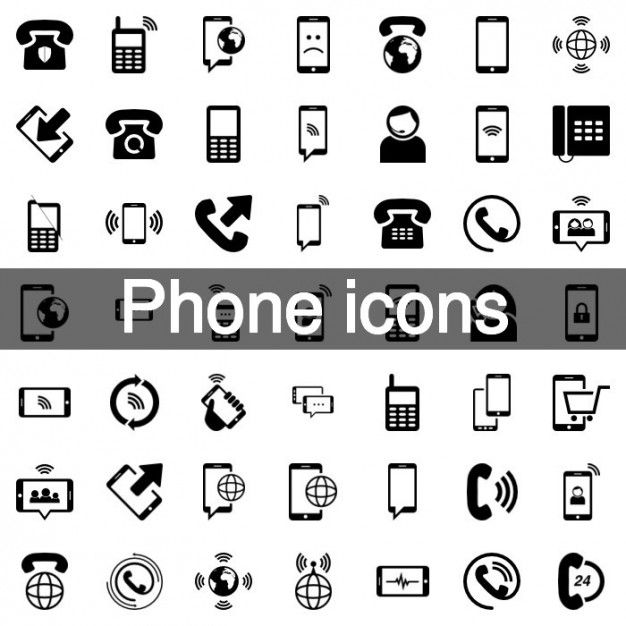 Download Mobile Phone Icon Set For Free Phone Icon Icon Set Vector Free