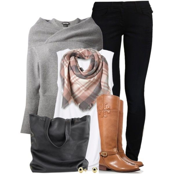 A fashion look from October 2014 featuring Tom Ford sweaters, Rebecca Taylor t-shirts and True Religion jeans. Browse and shop related looks.