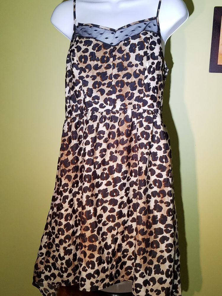 58f14b8e3e7efd Beautiful XHILERATION Beige & Brown Leopard Spot Dress - Size Large - Lace  Front #Xhilaration #Everyday #Everyday