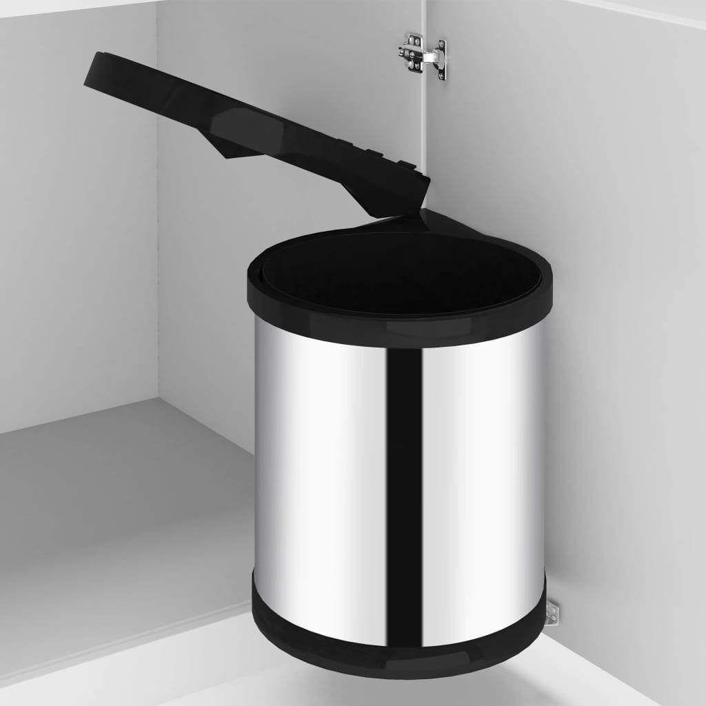 Kitchen waste bin built-in 12 L stainless steel