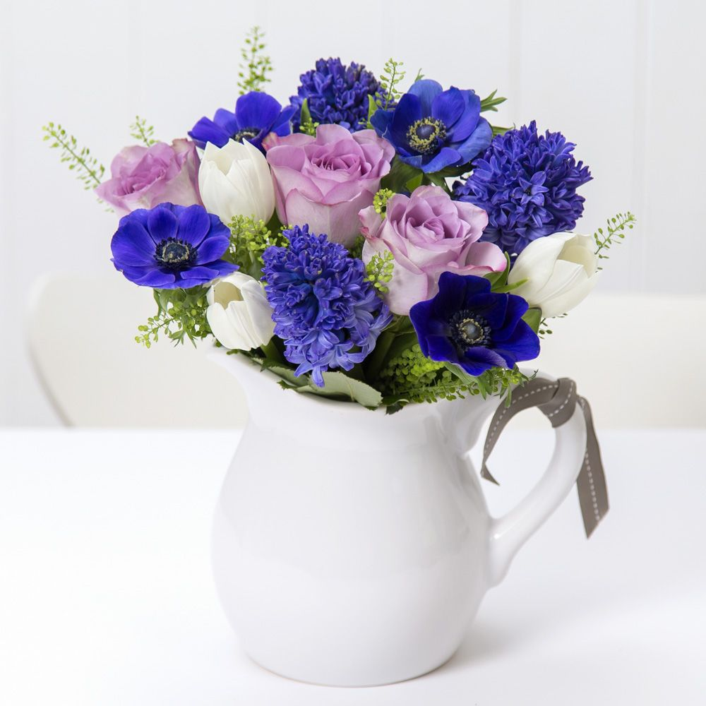 Our Spring Arrangement featuring Tulips, Hyacinth, Rose, Anemone and ...