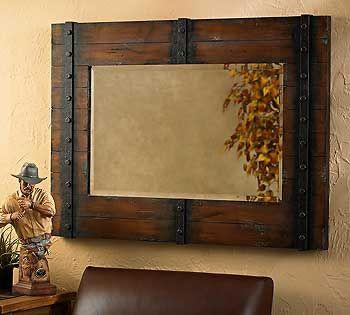 for landons bathroom rustic mirror - Metal Mirror Frame
