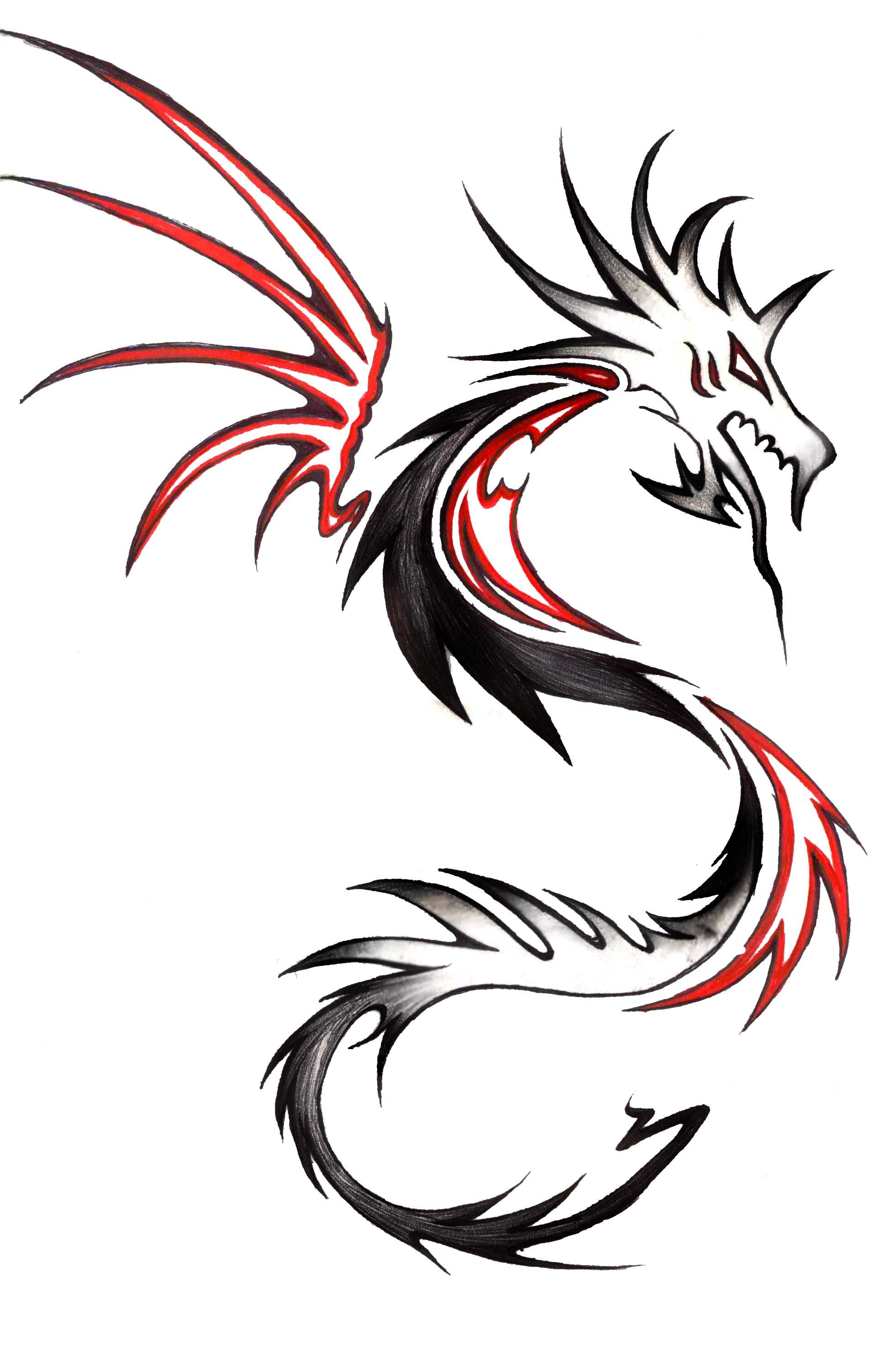 Fill In The Whites With The Surrounding Color Making The Segments Solid Fill Maybe Dragon Tattoo Tribal Dragon Tattoos Dragon Tattoo Hd