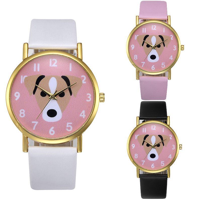 Aliexpress Com Comprar Reloj De Pulsera Para Mujer Reloj Femenina Modelo Del Perro De La Moda De Cuero De La Pu De Cuarzo Analogico Horloge Horloges Cartoons