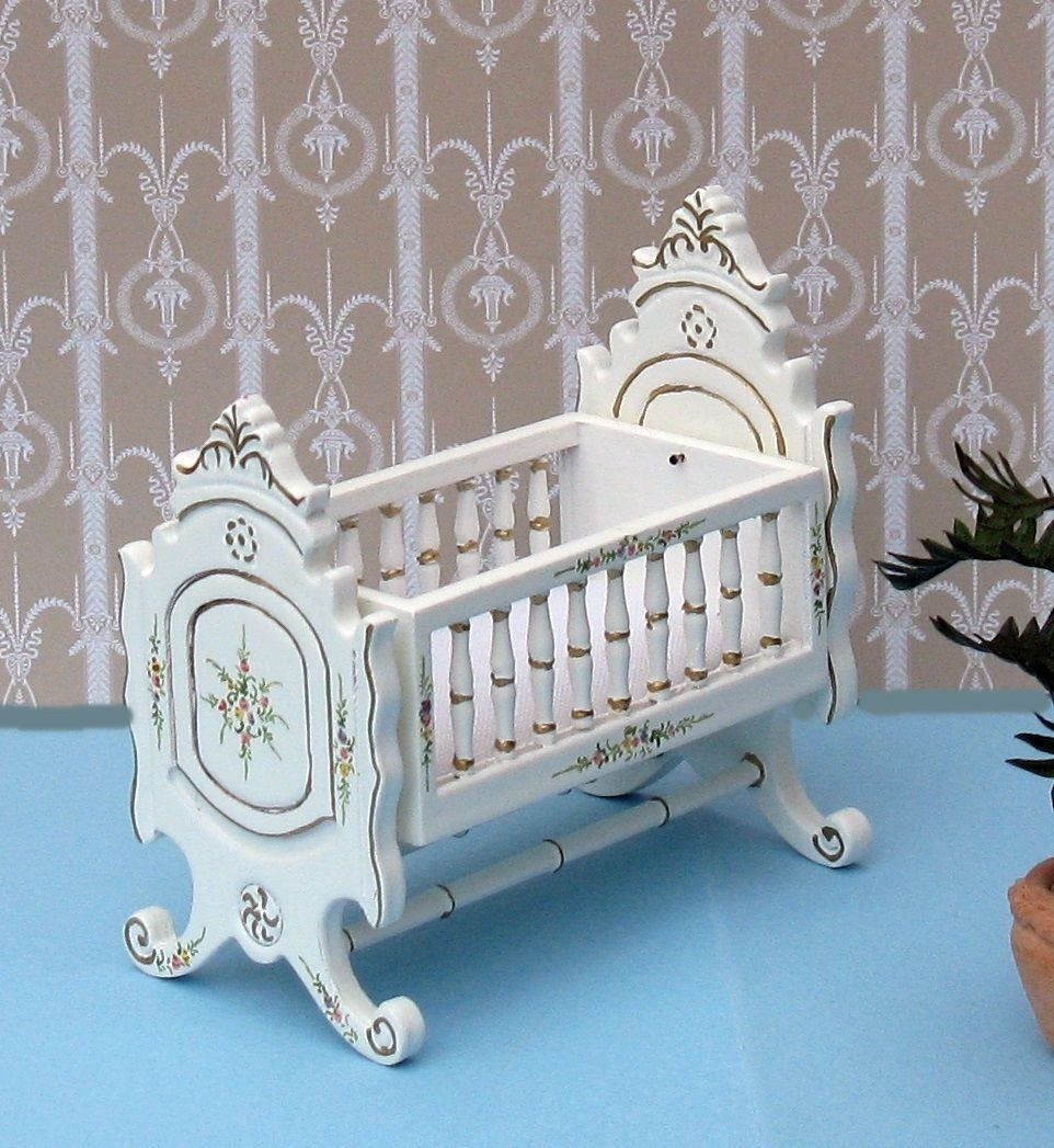 Dolls House Miniature Jiayi Crib   EBay