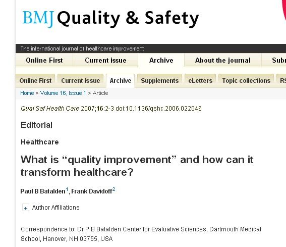 What Is Quality Improvement And How Can It Transform Healthcare