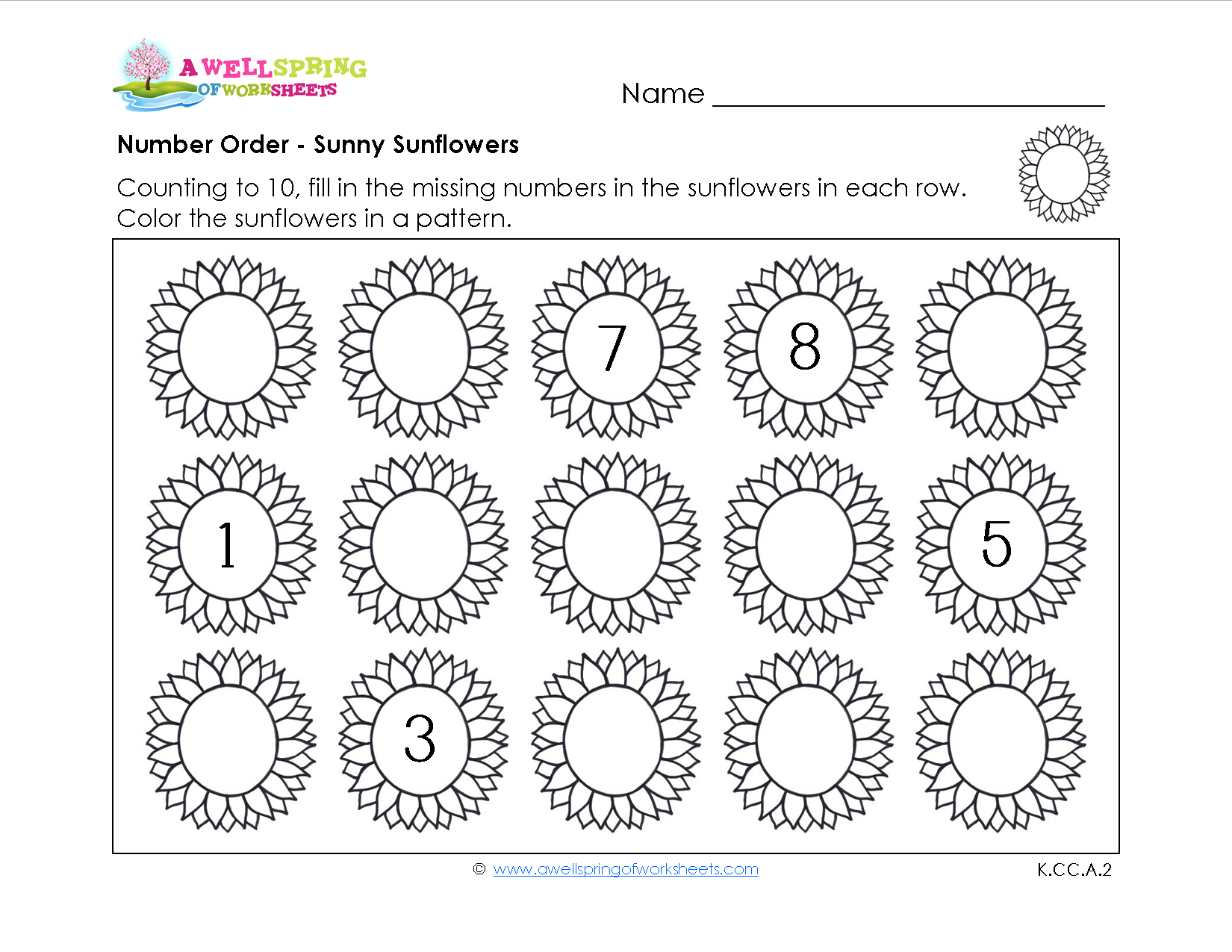 Number Order for Kindergarten In these worksheets kids fill in