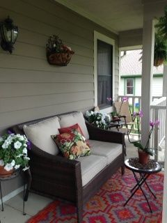 Small Front Porch Seating Area Patios Decks Design