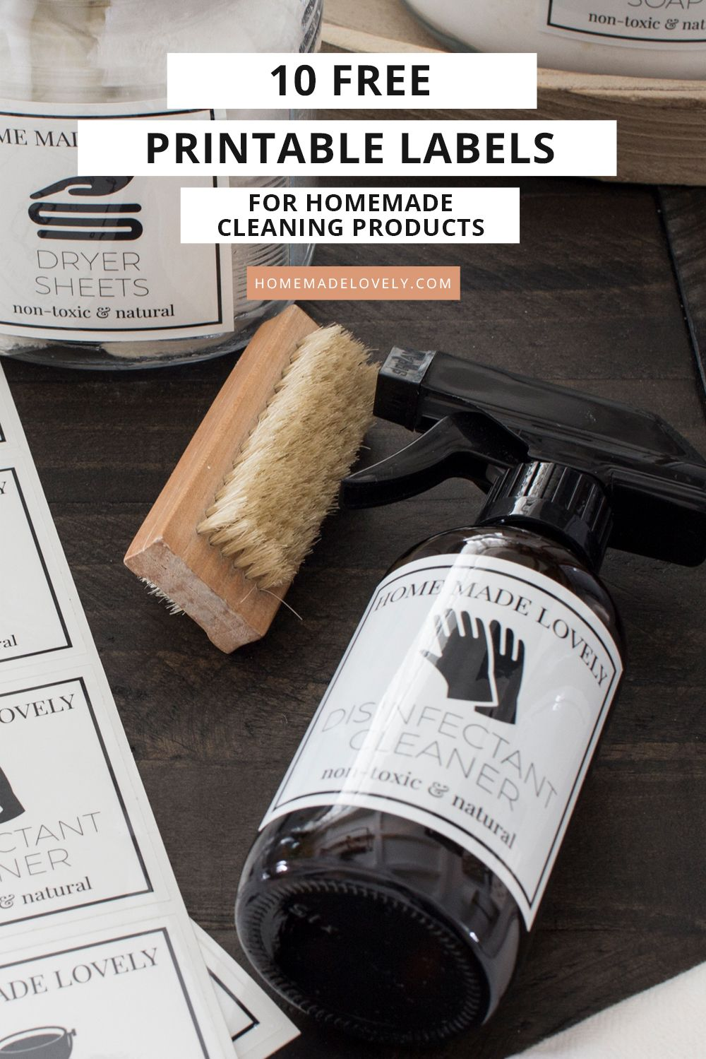 10 Free Printable Labels For Homemade Cleaning Products In 2020