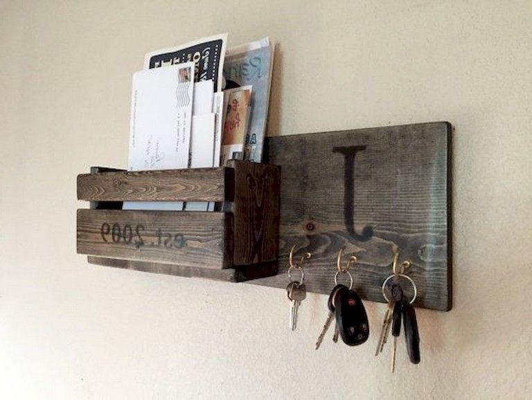45 Beautiful Rustic Diy Key Holder Ideas Key Holder Diy Wooden Key Holder Rustic Diy