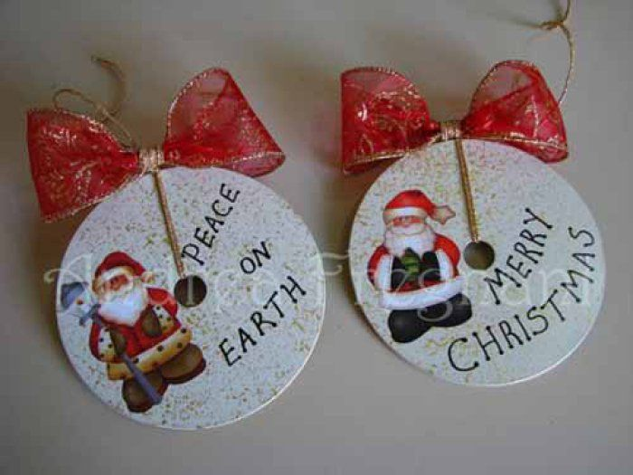 Adornos adornos de navidad caseros christmas ornaments - Adornos navidenos caseros ...
