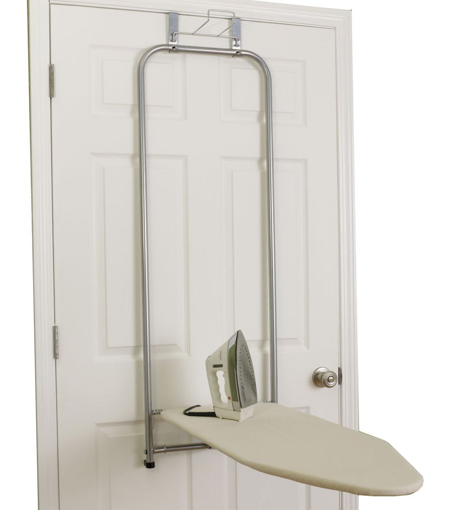 The Over The Door Folding Ironing Board Keeps Your Ironing Board Over Your Door So It Is Both Out Of Folding Ironing Boards Mud Room Storage Door Ironing Board