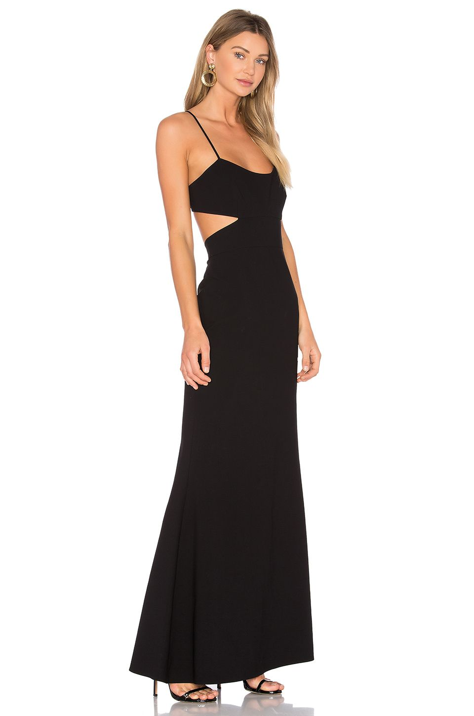 Jill jill stuart flare gown in black clothes pinterest gowns