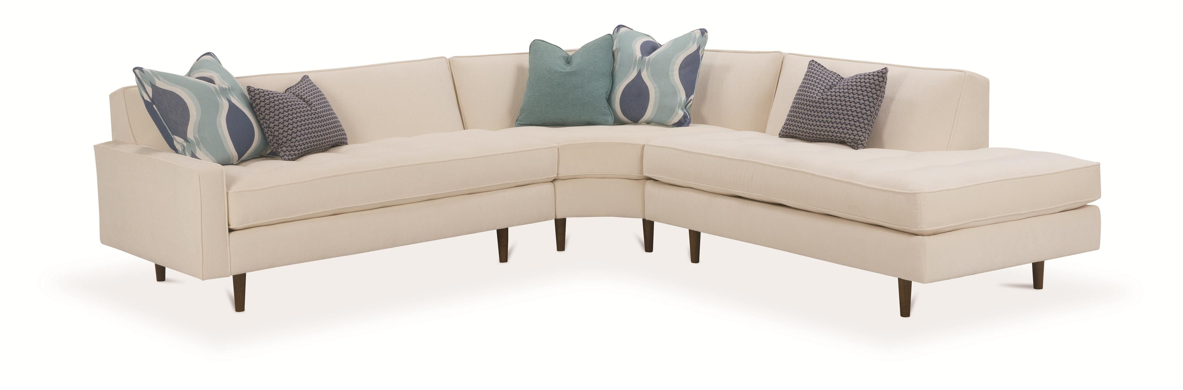 Rowe Brady Contemporary 3 Piece Sectional Sofa Reeds Furniture