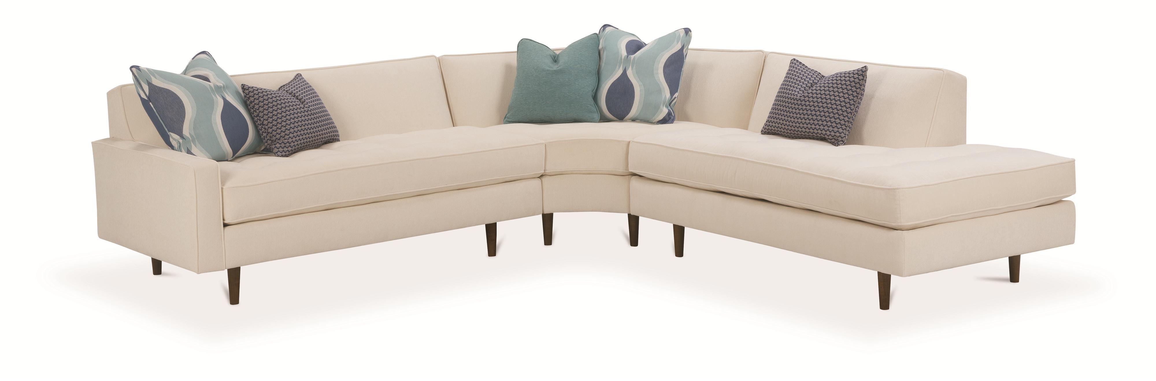 Rowe Brady Contemporary 3 Piece Sectional Sofa Reeds Furniture