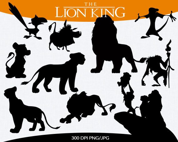 This Set Is Available For Instant Download You Will Receive 10 Png Files Lion King Disney Silhouettes Disney Silhouette