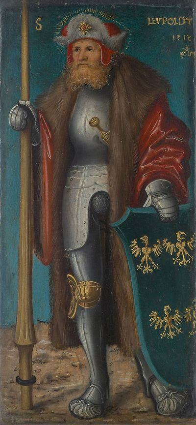 Lucas Cranach d. Ä - Hl. Leopold, 1515 datiert. Kunsthistorisches Museum, Gemäldegalerie