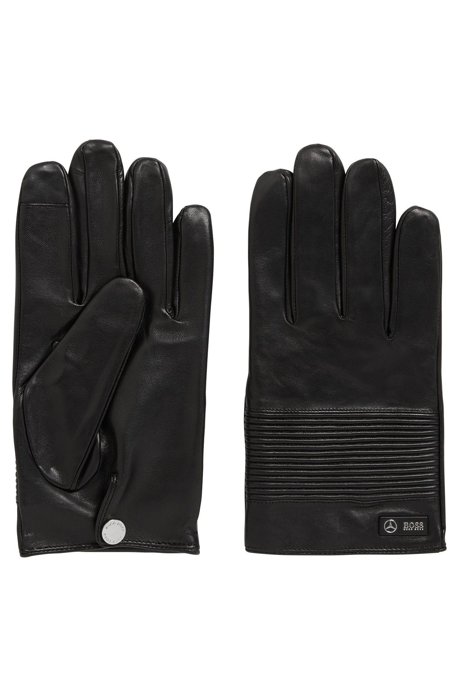 943db9db1d8 Mercedes-Benz Collection nappa leather gloves with smocked detail ...