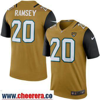 timeless design f6b2d a653a Men's Jacksonville Jaguars 20 Jalen Ramsey Nike Gold Color ...