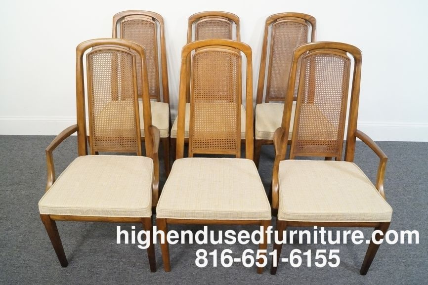 Terrific 6 Drexel Mid Century Modern Cane Back Dining Chairs Chair Dailytribune Chair Design For Home Dailytribuneorg