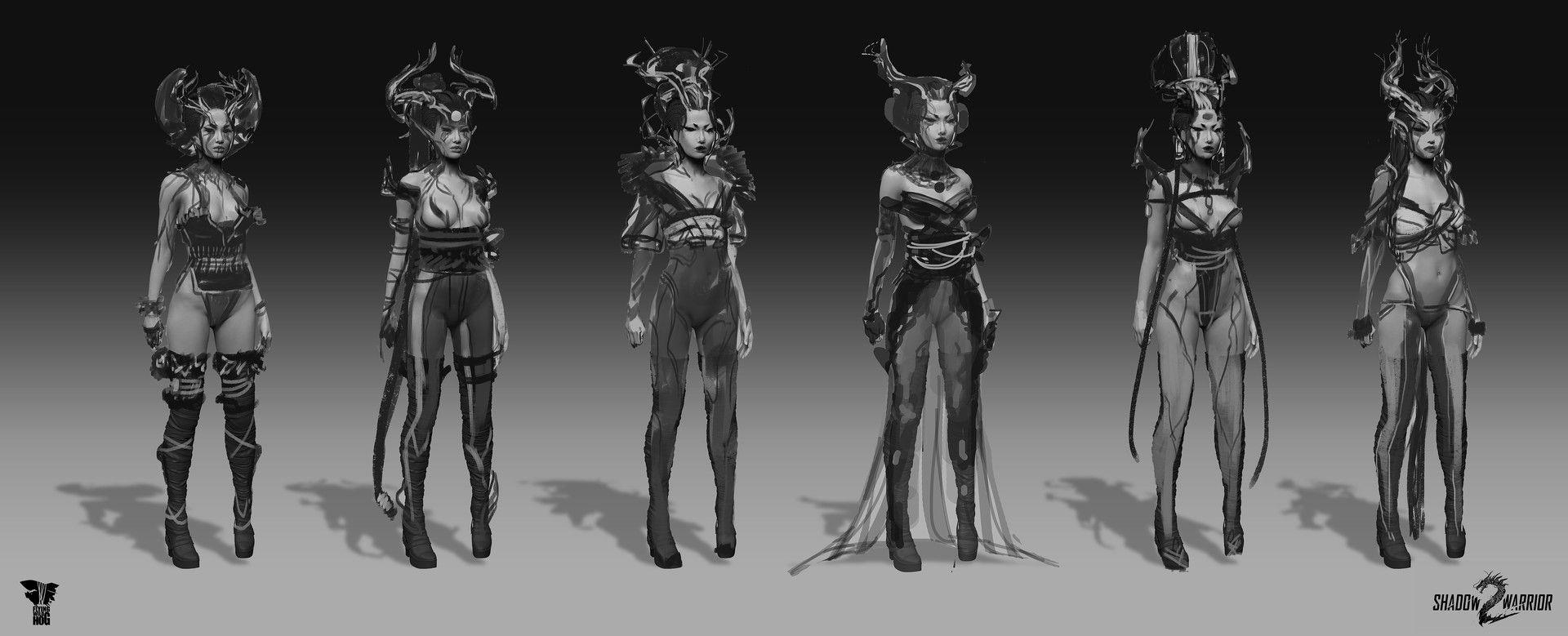 Artstation  Shadow Warrior 2: Ameonna, Magdalena Radziej