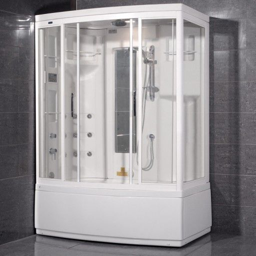 Ariel Bath Aromatherapy Sliding Door Steam Shower With Bath Tub