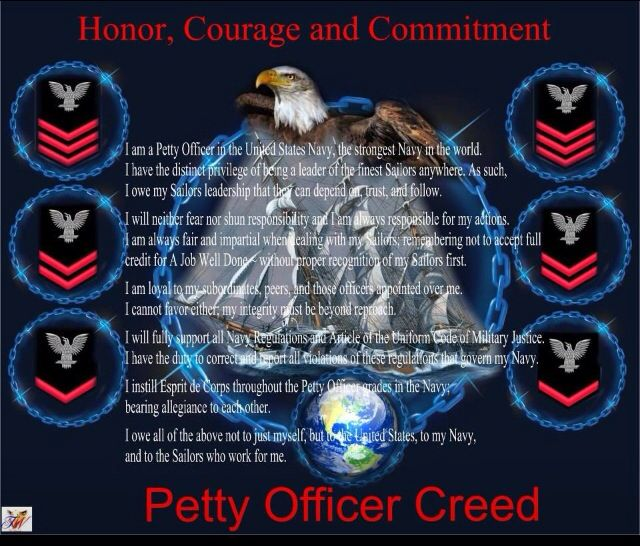 NAVY PETTY OFFICER GIFT ~ US NAVY PETTY OFFICER/'S CREED ~ Can be Personalized