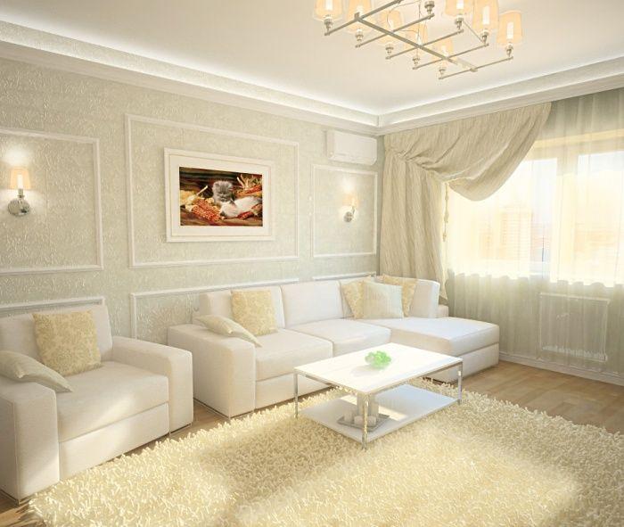 Галерея обои в зал светлые фото | Мебель для гостиной ...