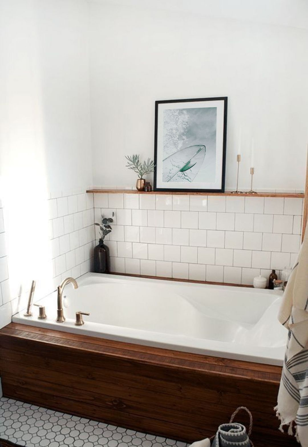 Photo of bathroom decor, surf inspired decor, surf lovers gift, surf diy decor