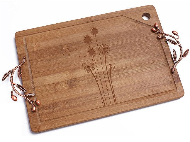 Dandelions Bamboo Cutting Board
