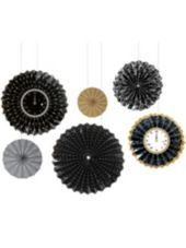 Assorted New Years Paper Fan Decorations 6ct - Party City 7.99
