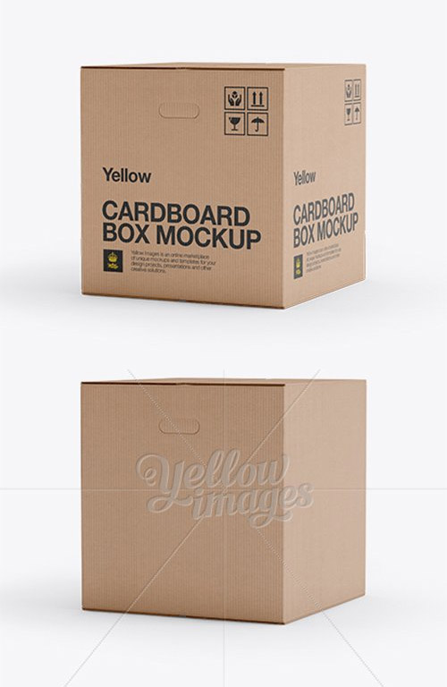Download Corrugated Box Mockup 25 Angle Front View Free Psd Templates Box Mockup Corrugated Box Psd Template Free